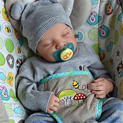 20 inch Reborn Doll Baby Toddler Toy Reborn Baby Doll Levi Newborn lifelike Hand Made Simulation Floppy Head Cloth Silicone Vinyl with Clothes and Accessories for Girls' Birthday and Festival Gifts Lightinthebox