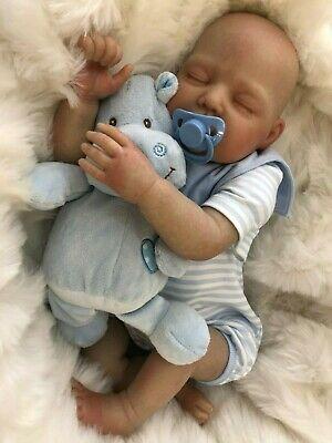 "CHERISH DOLLS KADE FULLY REBORNED BABY FAKE BABIES REALISTIC 22"" BIG REBORN BOY"