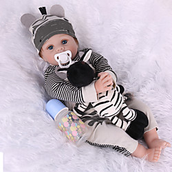 NPK DOLL 22 inch Reborn Doll Reborn Toddler Doll Baby Boy Baby Girl lifelike Safety Gift 3/4 Silicone Limbs and Cotton Filled Body with Clothes and Accessories for Girls' Birthday and Festival Gifts Lightinthebox